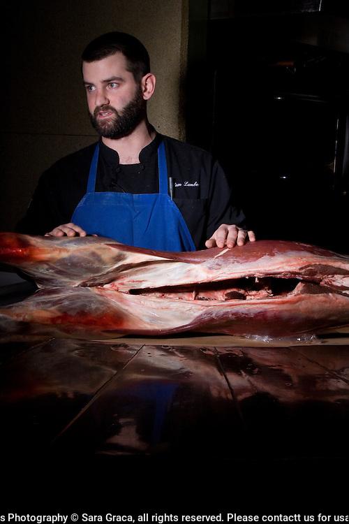 Chef Adam Lambert begins the first Fresh Fork Market Butcher's Series with a venison butchering demonstration.