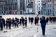 Nationale Dodenherdenking 2021 vanaf de Dam in Amsterdam met Koning Willem-Alexanderen en Koningin Maxima . De Dam is vanwege de coronamaatregelen niet toegankelijk voor publiek. FOTO: Brunopress/Patrick van Emst<br /> <br /> National Remembrance Day 2021 from Dam Square in Amsterdam with King Willem-Alexander and Queen Maxima. Due to the corona measures, Dam Square is not accessible to the public because of de COVID.