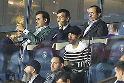 September 18, 2019, Paris, France, France: Tamim ben Hamad Al Thani - prince du Qatar - proprietaire du PSG dans les tribunes (Credit Image: © Panoramic via ZUMA Press)