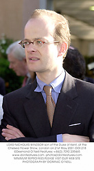 LORD NICHOLAS WINDSOR son of the Duke of Kent, at the Chelsea Flower Show, London on 21st May 2001.OOI 218