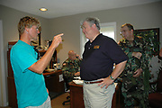 Congressman Gene Taylor at the Trent Lott National Guard base in Gulfport Ms. after his stop at tyhe BAy St. Louis High School to drop off supplie. Sunday Sept. 4,2005 The governor went to Bat St. Louis high School  where a shelter was set up in their gym and distributed supplies and water to the refugees..(photo/Suzi Altman)