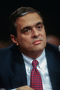 WASHINGTON, DC, USA - 1997/05/06: CIA Director designate George Tenet testifies before the Senate Intelligence Committee hearing on his nomination on Capitol Hill May 6, 1997 in Washington, DC.    (Photo by Richard Ellis)