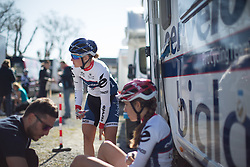 of the Flèche Wallonne Femmes - a 137km road race from starting and finishing in Huy on April 20, 2016 in Liege, Belgium.