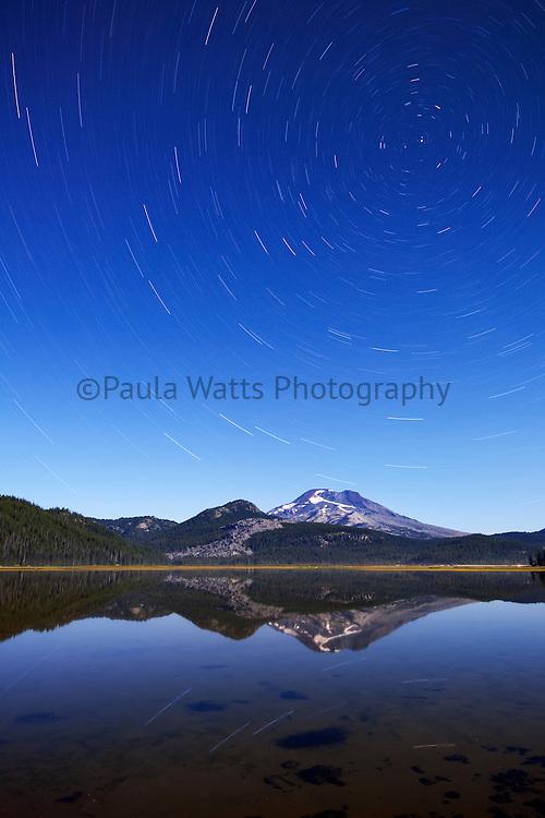Sparks Lake Bend Oregon Star Trails