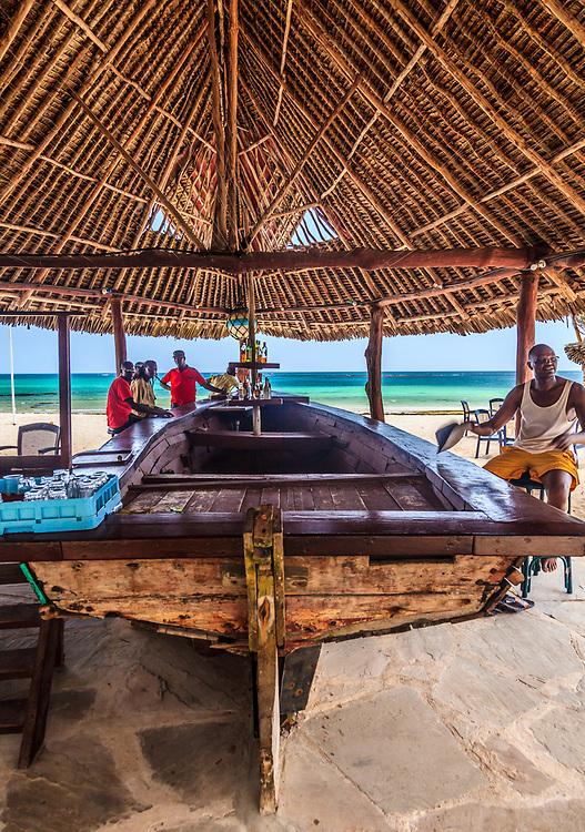 A boat bar at Tiwi beach, Kenya.