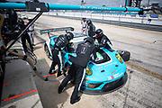 March 20, 2021. IMSA Weathertech Mobil 1 12 hours of Sebring: #16 Wright Motorsports, Porsche 911 GT3R, Trent Hindman, Patrick Long, Jan Heylen