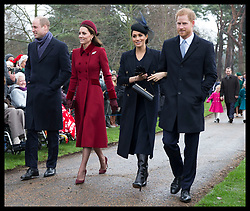 December 25, 2018 - Sandringham, United Kingdom - Image licensed to i-Images Picture Agency. 25/12/2018. Sandringham , United Kingdom. Royals arriving for the  Christmas Day church service at Sandringham in Norfolk, United Kingdom. (Credit Image: © Stephen Lock/i-Images via ZUMA Press)