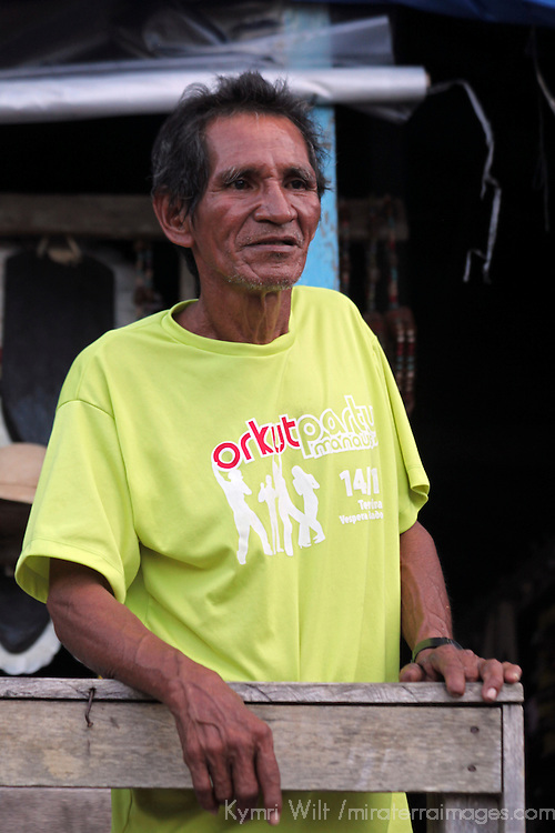 South America, Brazil, Amazon. Man of the Amazon river.