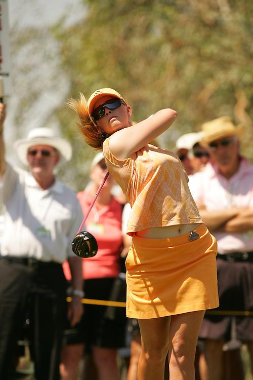 Paula Creamer.2007 Kraft-Nabisco Championship.Third Round.Mission Hills CC.Dinah Shore Course.Rancho Mirage, CA.Saturday, March 31 2007.03/31/07.Photograph by Darren Carroll