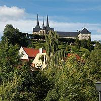 Europe, Germany, Bamberg. Baamberg and Michaelsberg Abbey.