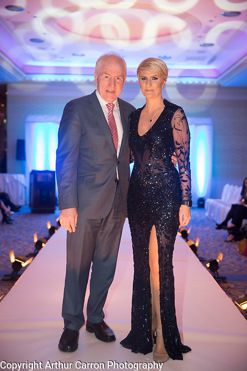 8/12/15 Minister Jimmy Deenihan and Senator Averil Power at the Oireachtas Christmas Charity Fashion Show in aid of Research Motor Neurone in the Shelbourne Hotel. Picture: Arthur Carron