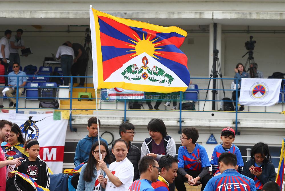 May 31, 2018 - London, United Kingdom - Tibet Fans.during Conifa Paddy Power World Football Cup 2018  Group B match between  Abkhazia  against Tibet at Queen Elizabeth II Stadium (Enfield Town FC), London, on 31 May 2018  (Credit Image: © Kieran Galvin/NurPhoto via ZUMA Press)
