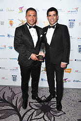 Jason Robinson OBE collects the Lifetime Achievement Award at the third Lycamobile British Ethnic Diversity Sports Awards BEDSAs, held at the Park Lane Hilton Hotel, London
