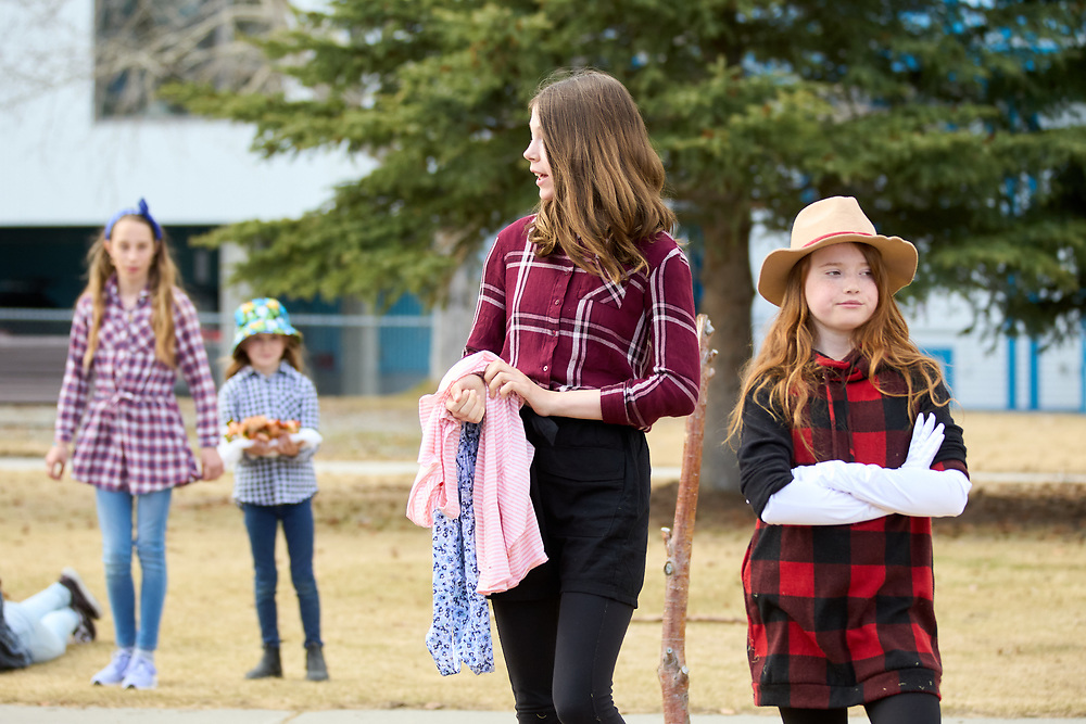 Nyah Myden-Friar as Margaret.<br /> Inara Bronson as Hero and as Ursula.<br /> <br /> Yukon Montessori School performed Shakespeare's Much Ado About Nothing in Helicopter Park on May 19 in Whitehorse, Yukon Canada.