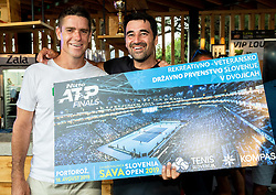 Gregor Krusic and Damir Konjar at Trophy ceremony of RVO at Day 10 of ATP Challenger Zavarovalnica Sava Slovenia Open 2019, on August 18, 2019 in Sports centre, Portoroz/Portorose, Slovenia. Photo by Vid Ponikvar / Sportida