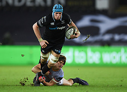 Ospreys' Justin Tipuric<br /> <br /> Photographer Mike Jones/Replay Images<br /> <br /> Guinness PRO14 Round Round 15 - Ospreys v Southern Kings - Friday 16th February 2018 - Liberty Stadium - Swansea<br /> <br /> World Copyright © Replay Images . All rights reserved. info@replayimages.co.uk - http://replayimages.co.uk