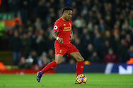 Nathaniel Clyne of Liverpool in action. Premier League match, Liverpool v West Ham Utd at the Anfield stadium in Liverpool, Merseyside on Sunday 11th December 2016.<br /> pic by Chris Stading, Andrew Orchard sports photography.