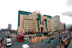 Exterior of UK Security Services M15 & M16 headquarters building; Vauxhall; South London UK
