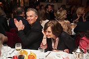 TONY BLAIR; CHERIE BLAIR, Chinese New Year dinner given by Sir David Tang. China Tang. Park Lane. London. 4 February 2013.