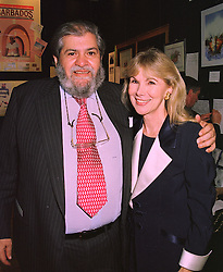 SIR EDDIE KULUKUNDIS and his wife actress SUSAN HAMPSHIRE, at a reception in London on 5th November 1997.MCZ 2