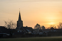 Sunrise over Beckum, Twente, the Netherlands