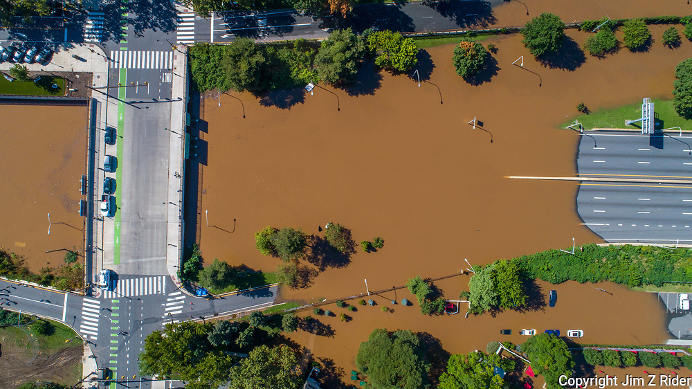 Interstate 676, known locally as the Vine Street Expressway, stands several feet underwater Thursday in downtown Philadelphia, Pennsylvania. Ida's remnants caused major flooding and spawned several tornadoes in Pennsylvania and New Jersey.
