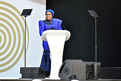 Graca Machel speaking during the Nelson Mandela annual lecture at Wanderers Stadium, Gauteng.<br />Picture: Itumeleng English/African News Agency (ANA)