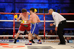 Lee Haskins defeats Luke Wilton in their Bantamweight bout - Photo mandatory by-line: Rogan Thomson/JMP - Tel: 07966 386802 - 01/03/2014 - SPORT - BOXING - The City Academy, Bristol - James DeGale v Gevorg Khatchikian.