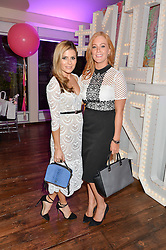 Left to right, ZOE HARDMAN and SARAH-JANE MEE at a party to celebrate the new partnership of Maids to Measure with Touker Suleyman held in The Winter Marquee, Home House, 20 Portman Square, London on 2nd March 2016.