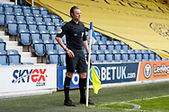 Assistant Referee Matt Foley during the EFL Sky Bet Championship match between Queens Park Rangers and Barnsley at the Kiyan Prince Foundation Stadium, London, England on 20 June 2020.