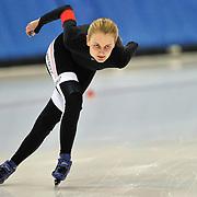 September 18, 2010 - Kearns, Utah - Sohpie Webb races in long track speedskating time-trials held at the Utah Olympic Oval.