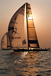Artemis Racing (SWE) lost two matches in RR2. one against Synergy Russian Sailing Team(RUS) and one against BMW Oracle Racing (USA). Dubai, United Arab Emirates, November 21st 2010. Louis Vuitton Trophy  Dubai (12 - 27 November 2010)  Sander van der Borch / Artemis Racing
