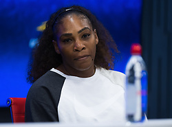 September 4, 2018 - Serena Williams of the United States talks to the media after winning her quarter-final match at the 2018 US Open Grand Slam tennis tournament. New York, USA. September 04, 2018. (Credit Image: © AFP7 via ZUMA Wire)