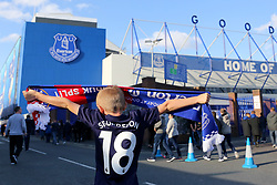 A young Everton fan wears a Gylfi Sigurdsson shirt outside Goodison Park  - Mandatory by-line: Matt McNulty/JMP - 17/08/2017 - FOOTBALL - Goodison Park - Liverpool, England - Everton v Hajduk Split - UEFA Europa League First Playoff Round - First Leg