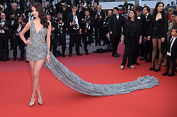 "Sonia Ben Ammar, Cate Blanchett, Alessandra Ambrosio, Noemi Campbell, Jane Fonda, Bella Hadid, Winnie Harlow, Petra Nemcova, Kristen Stewart attending ""Blackkklansman"" Red Carpet Arrivals - The 71st Annual Cannes Film Festival. 14 May 2018 Pictured: Sonia Ben Ammar. Photo credit: kilmax / MEGA TheMegaAgency.com +1 888 505 6342"