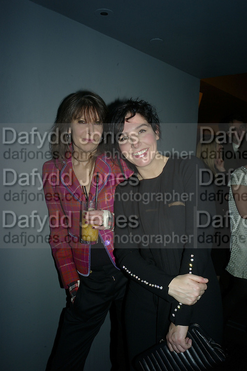 Chrissie Hynde (L) and Sharleen Spitteri attend Not Another Burns night. St. Martin's Lane Hotel.  Monday 3rd March 2008. *** Local Caption *** -DO NOT ARCHIVE-© Copyright Photograph by Dafydd Jones. 248 Clapham Rd. London SW9 0PZ. Tel 0207 820 0771. www.dafjones.com.