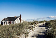 Beach cottage and dune grass, Yarmouth, Cape Cod, MA