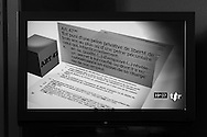 Television graphic representing one of one of the core values of Swiss Banking - Article 47 of the Swiss Banking Act, dating from 1934, which makes it a criminal offence to divulge private banking details, and so safeguarding secrecy - by law.