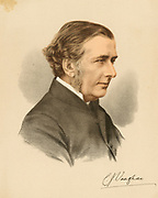 Charles John Vaughan (1816-1897) English scholar and churchman. Headmaster of Harrow School 1844-1859. Dean of Llandaff from 1879 until his death.   Tinted lithograph c1880.