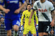 goalkeeper Hugo LLoris of Tottenham Hotspur  looks on. Barclays Premier league match, Chelsea v Tottenham Hotspur at Stamford Bridge in London on Monday 2nd May 2016.<br /> pic by Andrew Orchard, Andrew Orchard sports photography.