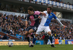 Coventry City's Callum O'Hare (left) and Blackburn Rovers' Joe Rothwell battle for the ball during the Sky Bet Championship match at Ewood Park, Blackburn. Picture date: Saturday October 16, 2021.