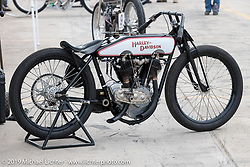 Josh Young's 1927 J-Model Harley-Davidson racer at the Sons of Speed Vintage Motorcycle Races at New Smyrina Speedway. New Smyrna Beach, USA. Saturday, March 9, 2019. Photography ©2019 Michael Lichter.