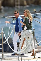 Antonio Banderas and Nicole Kimpel arrive at the Eden Roc during Cannes Film Festival. 22 May 2019 Pictured: Antonio Banderas and Nicole Kimpel arrive at the Eden Roc during Cannes Film Festival. Photo credit: EliotPress / MEGA TheMegaAgency.com +1 888 505 6342