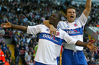 Photo: Aidan Ellis.<br /> Sheffield United v Middlesbrough. The Barclays Premiership. 30/09/2006.<br /> Boro's Yakubu celebrates his equaliser with Mark viduka