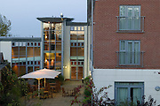 Hellidon Lakes Hotel, Courtyard and edge of residential block
