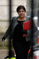 © Licensed to London News Pictures. 22/01/2013. Westminster, UK Baroness Warsi. Politicians at Cabinet Meeting on Downing Street this morning 22 January 2012. Photo credit : Stephen Simpson/LNP