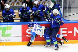 Dmitri Shevchenko of Kazakhstan vs David Rodman of Slovenia during ice hockey match between Slovenia and Kazakhstan at IIHF World Championship DIV. I Group A Kazakhstan 2019, on April 29, 2019 in Barys Arena, Nur-Sultan, Kazakhstan. Photo by Matic Klansek Velej / Sportida
