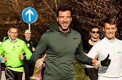 Gorazd Jukovič, Priprave za Ljubljanski maraton 2019 v sodelovanju s sezanskim Malim kraskim maratonom, on March 9, 2019, in Mostec, Ljubljana, Slovenia. Photo by Vid Ponikvar / Sportida