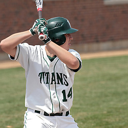 12 April 2014:  Jarrod Juskiewicz during an NCAA division 3 College Conference of Illinois and Wisconsin (CCIW) baseball game between the Augustana Vikings and the Illinois Wesleyan Titans at Jack Horenberger Stadium, Bloomington IL