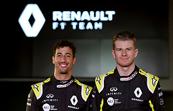 Drivers Niko Hulkenberg (right) and Daniel Ricciardo during the Renault F1 Team 2019 season launch at Whiteways Technical Centre, Oxford.